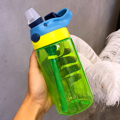 Silicone Handgrip Shape Feeding Straw 500ML Drinking Water Bottles