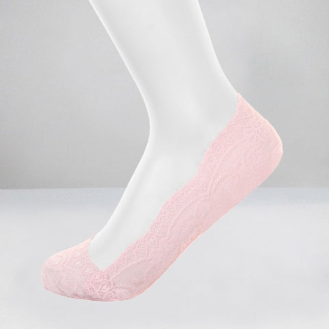 Thin Flower Pattern Lace Style Ankle Socks