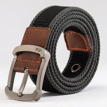 Casual Striped Pattern Metal Pin Buckle Unisex Military Tactical Belts