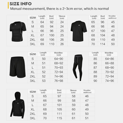 Men's Long Sleeve O-Neck Sports T-shirt + Elastic Waist Pant Tracksuit Sets