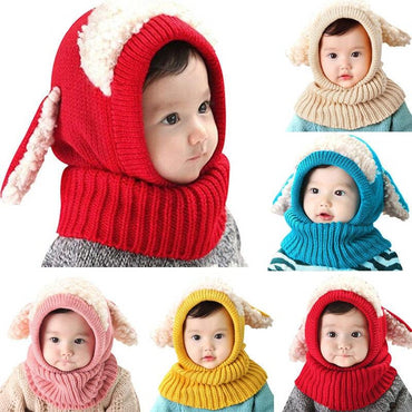 Cute Warm Knitted Beanie Earflap Sheep Caps