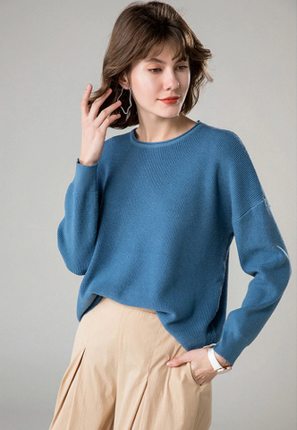 Winter Long Sleeve O-Neck Women Oversized Casual Pullover Sweater