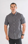 Griffey Casual Short Sleeve Shirt - Midnight Black - ATHLETIC FIT | B24