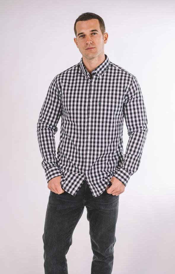 Woodson Plaid Casual Long Sleeve Shirt - Athletic Fit - ATHLETIC FIT | B24