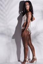 Load image into Gallery viewer, FULL NUDE PLUNGE SEQUIN CUT OUT MONOKINI