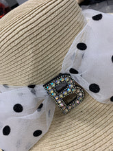 Load image into Gallery viewer, NELIA STRAW WIDE BRIM BLACK EDGED FLOPPY BEACH SUN HAT (FOLDABLE)