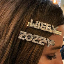 Load image into Gallery viewer, PEPINA PERSONALISED DIAMANTE HAIR SLIDES