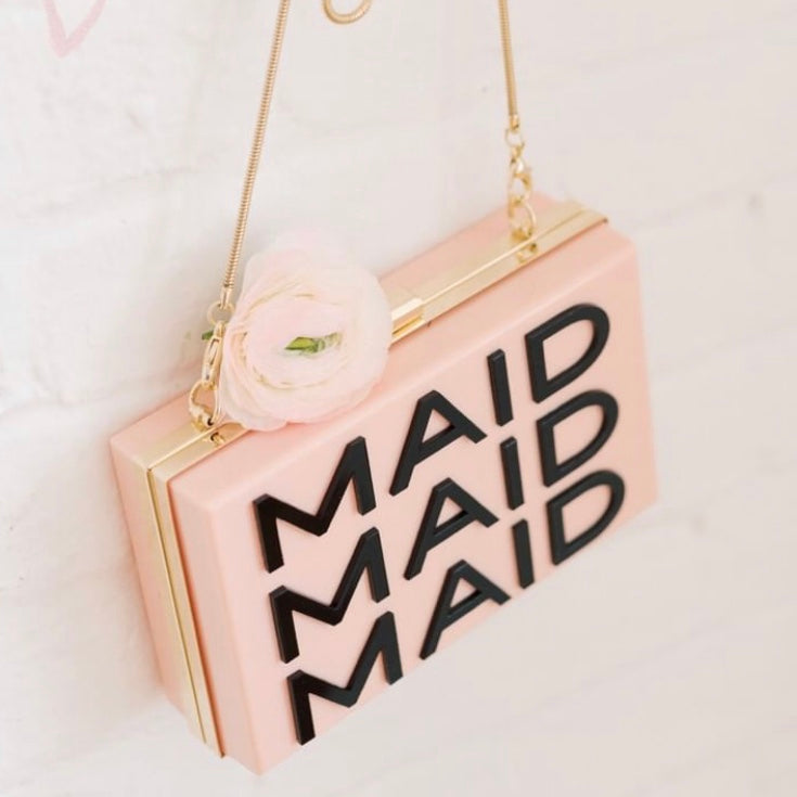 MAID ACRYLIC BOX CLUTCH BAG