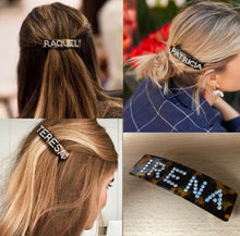 Load image into Gallery viewer, SIENNA PERSONALISED DIAMANTE HAIR SLIDES