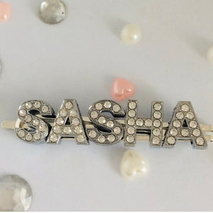 PEPINA PERSONALISED DIAMANTE HAIR SLIDES