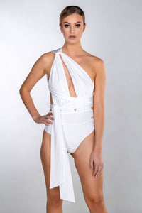 VERA WHITE MULTIWAY WRAP LACE SWIMSUIT