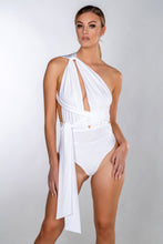 Load image into Gallery viewer, VERA WHITE MULTIWAY WRAP LACE SWIMSUIT