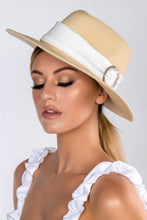 Load image into Gallery viewer, NERE STRAW WIDE BRIM FOLDABLE RIBBON PANAMA HAT