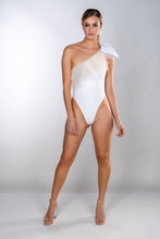 Load image into Gallery viewer, MIA MESH ONE SHOULDER BOW SWIMSUIT