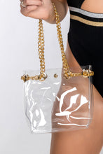 Load image into Gallery viewer, EVIA GOLD CHAIN MINI PERSPEX BAG