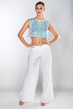 Load image into Gallery viewer, ISLA MERMAID SEQUIN CROSS OVER BACK TOP