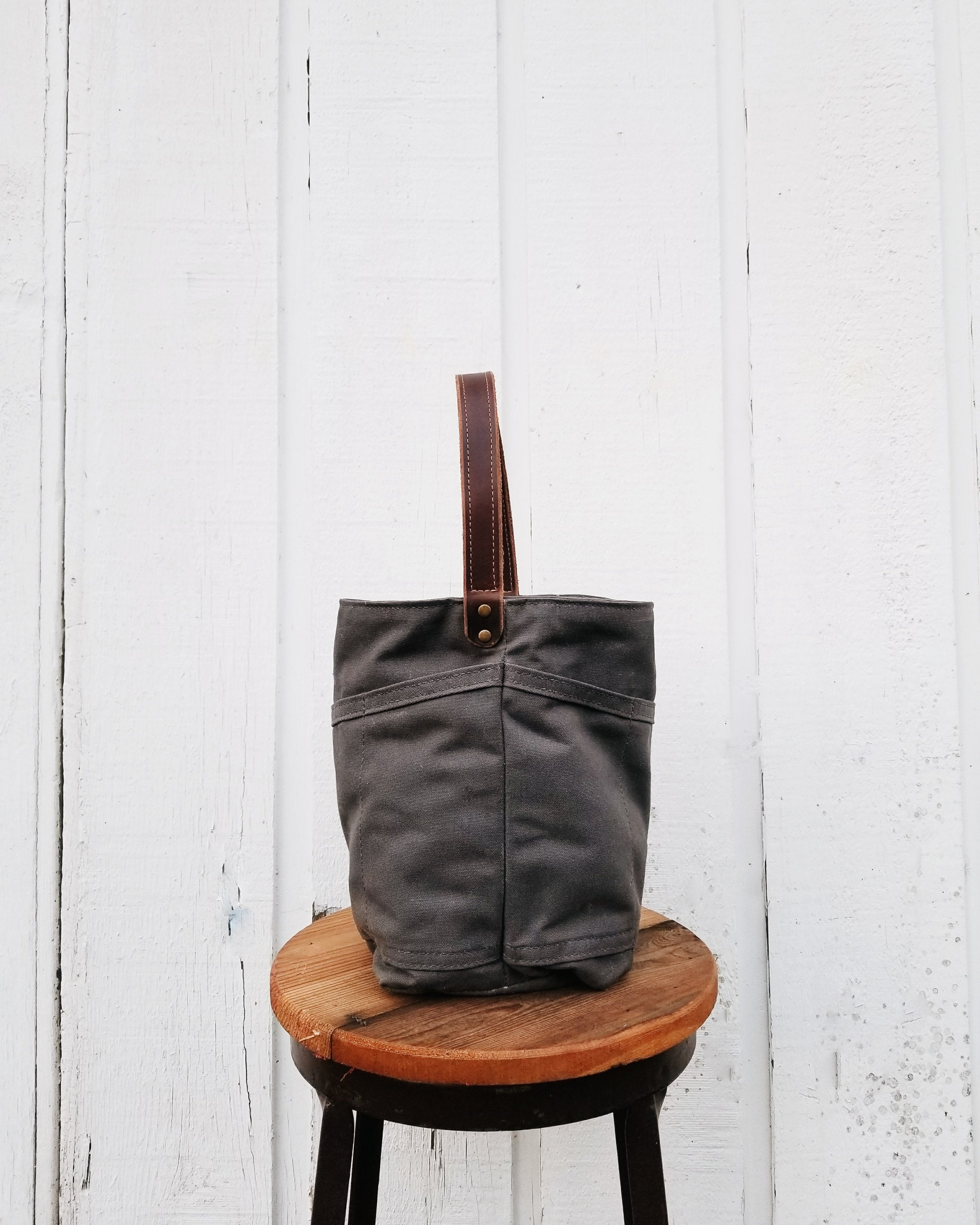 Waxed Cotton Canvas Garden Tool Bag