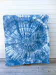 Indigo Dyed Hemp Blanket #1