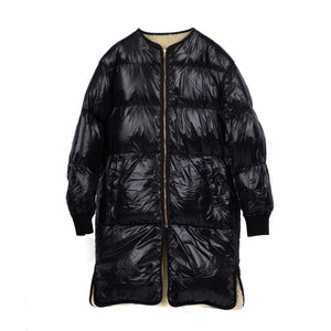 S06-99-FC001 REVERSIBLE BOA DOWN COAT /Collaboration with M Michiko Nakayama