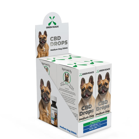 210-MG Natural Hemp CBD Drops -  Medium Dog Formula (Box of 4) - btn-hemp