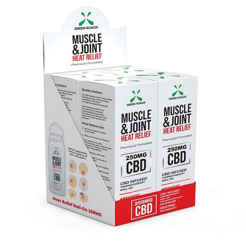 250-MG Natural Hemp CBD Muscle & Joint Heat Relief Roll On (Box of 4) - btn-hemp