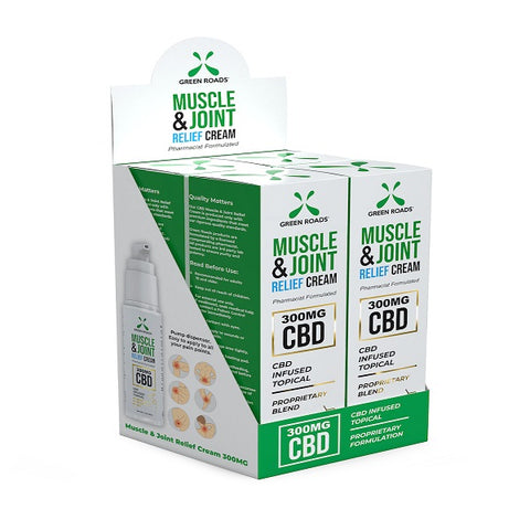 300-MG Natural Hemp CBD Muscle & Joint Cream (Box of 4) - btn-hemp