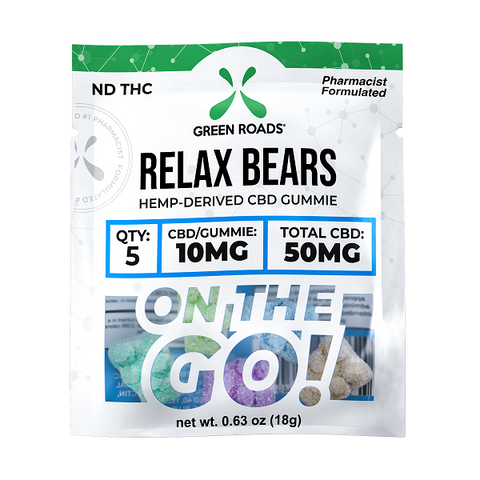 50MG On The Go CBD Relax Bears - Back to Nature CBD & More...