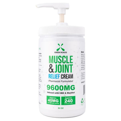 9600MG CBD Muscle & Joint Cream (32 oz.) - Back to Nature CBD & More...