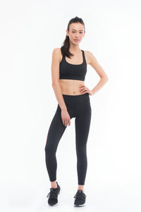 RAINBOW SPORTS BRA (BLACK)