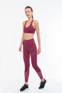 THE CURVY BOSS Sports Bra (Burgundy)