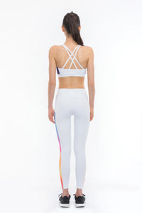 THE EYE CANDY Sports Bra (Colourfully White)