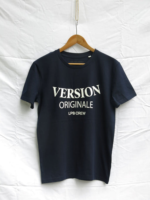 Version Originale - LPB crew. navy tee - Les Petits Basics