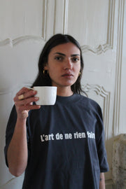 L'art de ne rien faire. oversized t-shirt