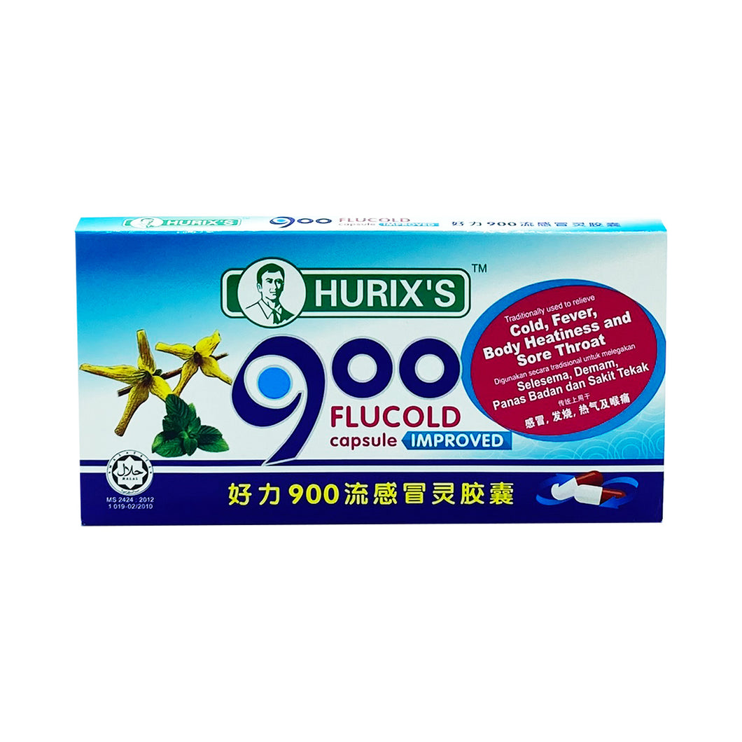 HURIX'S 900 FLUCOLD CAPSULE (9S - STRIP) - Wellings Online Store