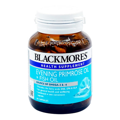 BLACKMORES EPO+FISH OIL (30S - BTL) - Wellings Online Store