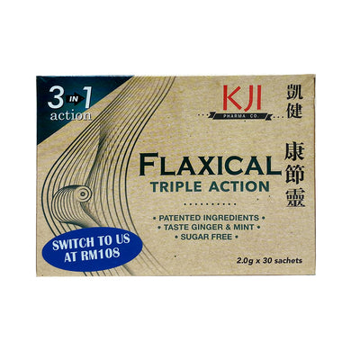 FLAXICAL TRIPLE ACTION 2.0G (30S - BOX) - Wellings Online Store
