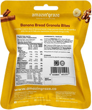 Load image into Gallery viewer, AMAZIN' GRAZE BANANA BREAD GRANOLA BITES 40G (PACK)