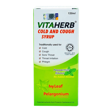 VITAHERB COLD AND COUGH SYRUP 120ML (BTL) - Wellings Online Store