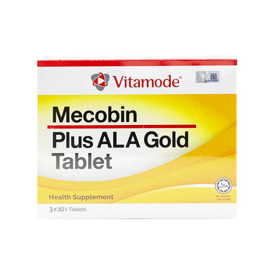 VITAMODE MECOBIN PLUS ALA GOLD TAB (30S - BOX) - Wellings Online Store