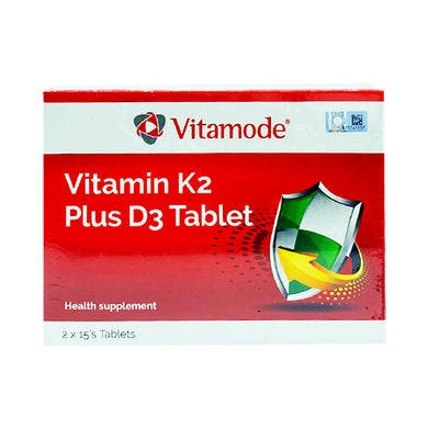 VITAMODE VITAMIN K2 PLUS D3 (30S - BOX) - Wellings Online Store