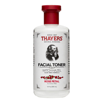 THAYERS WITCH HAZEL TONER ALCOHOL-FREE - ROSE PETAL 355ML (BTL) - Wellings Online Store