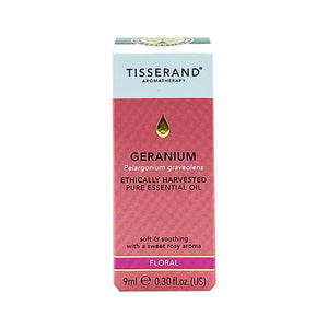 TISSERAND PURE ESSENTIAL OIL 9ML - GERANIUM (BTL) - Wellings Online Store