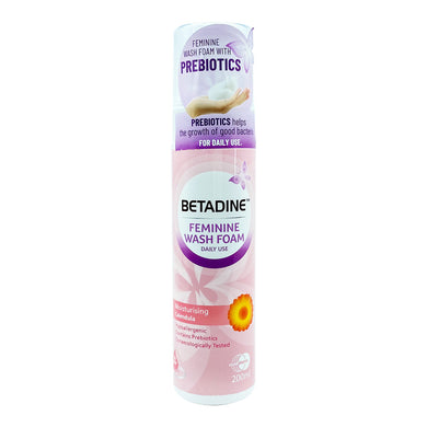 BETADINE DAILY FEMININE WASH FOAM 200ML - CALENDULA (BTL) - Wellings Online Store