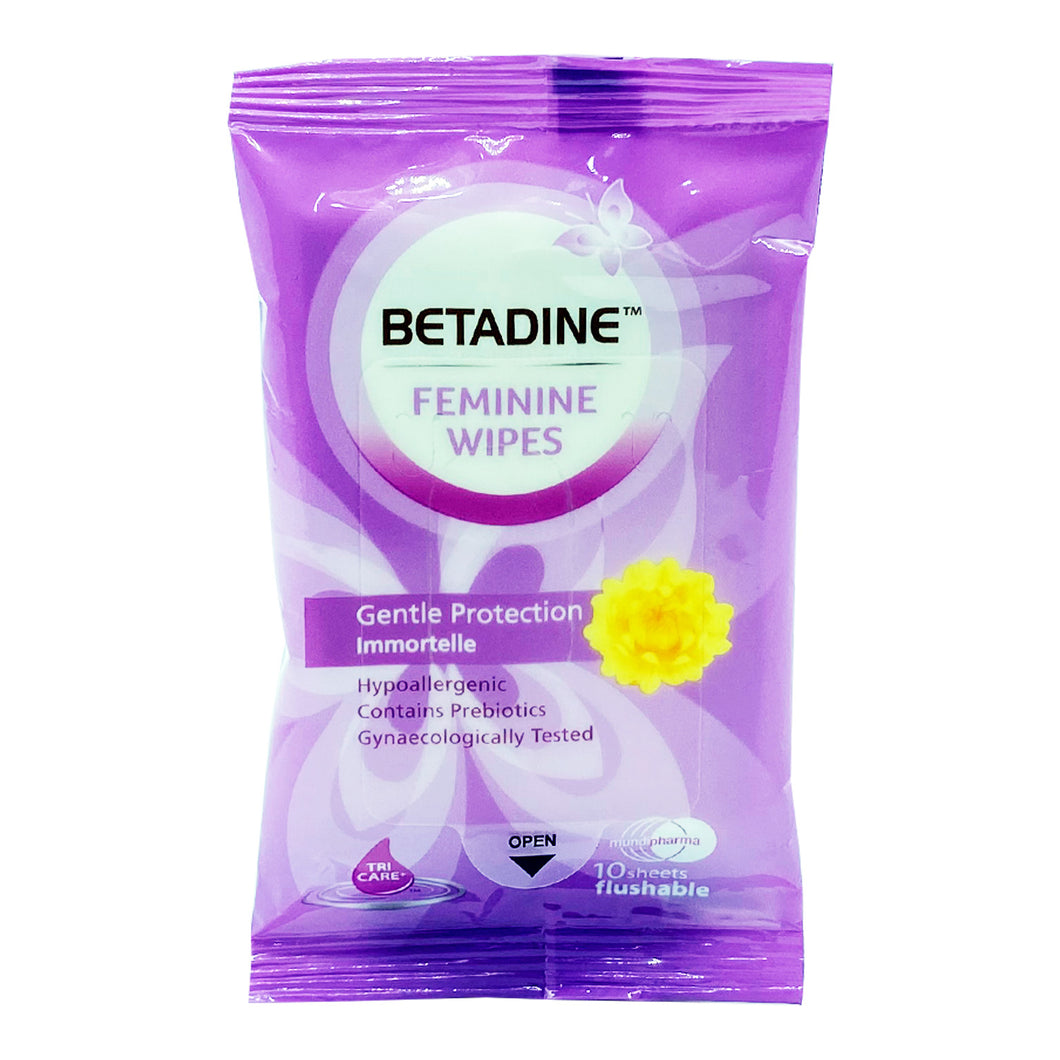 BETADINE DAILY FEMININE WIPES (10S - PACK) - Wellings Online Store