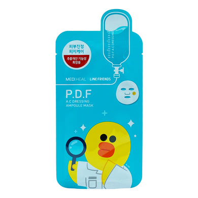 MEDIHEAL LINE FRIENDS PDF AC DRESSING AMPOULE MASK (1S - PCS) - Wellings Online Store