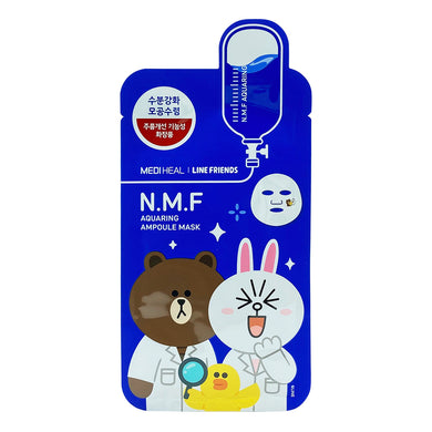 MEDIHEAL LINE FRIENDS NMF AQUARING AMPOULE MASK (1S - PCS) - Wellings Online Store