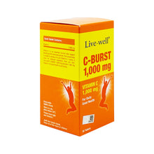 Load image into Gallery viewer, LIVE-WELL C-BURST 1000MG (30S - BOX) - Wellings Online Store