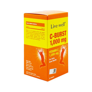 LIVE-WELL C-BURST 1000MG (30S - BOX) - Wellings Online Store