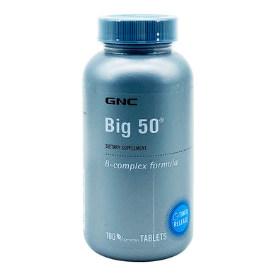 GNC BIG 50 TIMED RELEASE TABLETS (100S - BTL) - Wellings Online Store