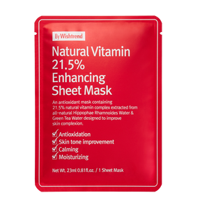BWT NATURAL VIT 21.5 ENHANCING SHEET MASK (1S - PCS)